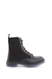 JIMMY CHOO Leather 'Milo biker boot with laces