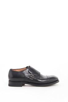 SILVANO SASSETTI Leather one buckle shoe