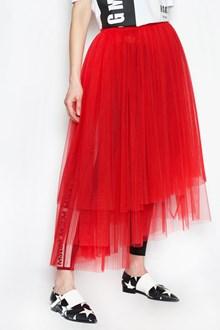 MSGM Asymmetrical tulle skirt