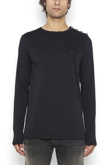 BALMAIN long sleeves t-shirt  with B embroidery on chest