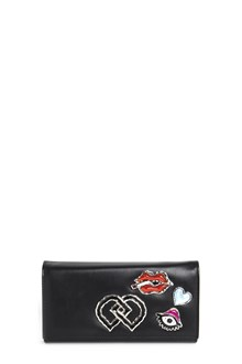 DSQUARED2 Leather clutch with embellishments