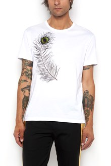 ALEXANDER MCQUEEN Peacock's feather embroidered t-shirt