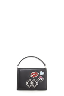 DSQUARED2 Leather Purse with crossbody strap and embellishments