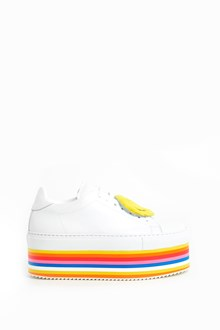 JOSHUA SANDERS Leather laced wedge 'smile' sneakers
