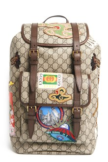 GUCCI Backpack 'St GG' with patch and front pocket