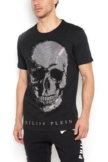 PHILIPP PLEIN 1/2 sleeves cotton t-shirt with 'Kiyo' print
