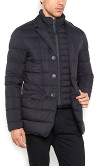HERNO padded jacket with v neck and buttons closure