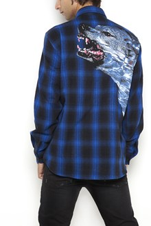 MARCELO BURLON - COUNTY OF MILAN Wool flannel button up 'Fainu' shirt