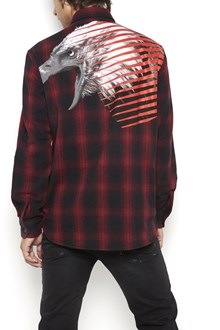 MARCELO BURLON - COUNTY OF MILAN Wool button up flannel 'iamens' shirt