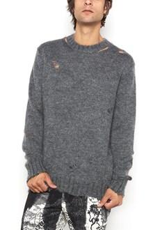 ALEXANDER MCQUEEN Cashmere crew neck destroyed sweater