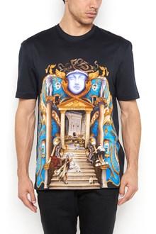 VERSACE multicolor printed 1/2 sleeves t-shirt