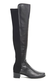 STUART WEITZMAN High black nappa and suede 'Reserve' boots