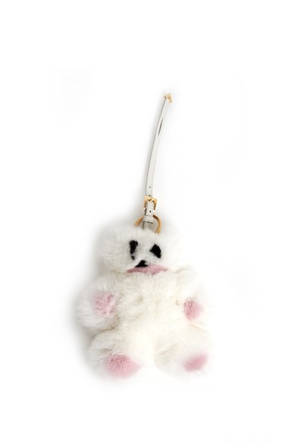 PRADA Fur trick bear key ring