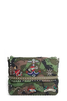 VALENTINO GARAVANI 'Tattoo' embroidered canvas messenger bag