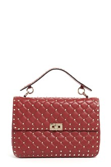 VALENTINO GARAVANI 'Spike' large leather bag with strap and studs