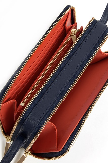 TORY BURCH Leather mini'Parker' double zip bag