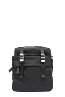 PRADA Technical fabric shoulder bag with leather details