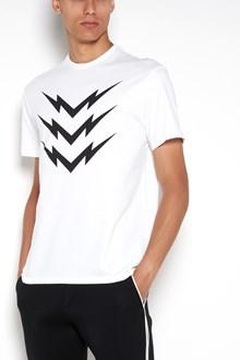 NEIL BARRETT 'Flash ' regular printed  1/2 sleeves t-shirt