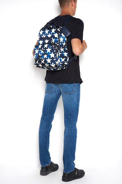 VALENTINO GARAVANI Camouflage and stars printed backpack
