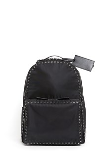 VALENTINO GARAVANI 'Untilted stud' studded nylon backpack