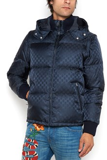 GUCCI GG all over printed padded jacket with detachable hood and sleeves
