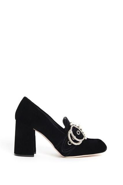MIU MIU 'Mary Jane' velvet pumps with buckle