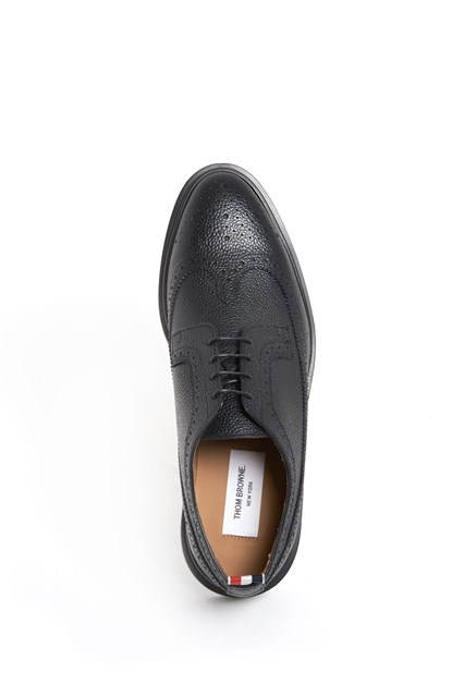 THOM BROWNE laced  sneaker  with rubber sole