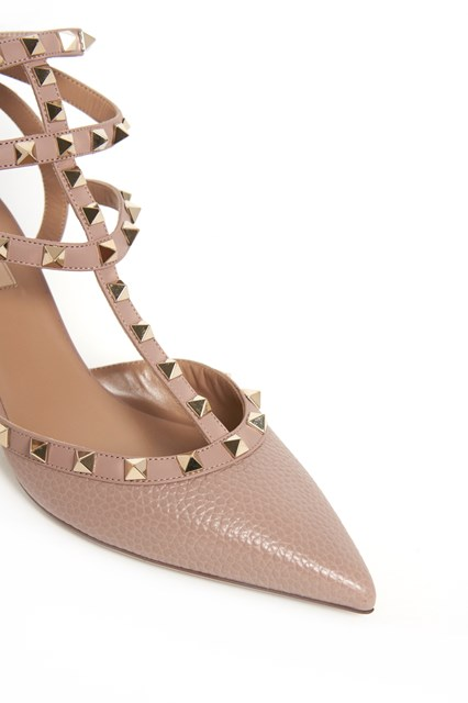 VALENTINO GARAVANI Rockstud calf leather pumps