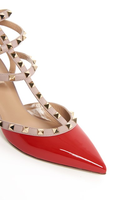 VALENTINO GARAVANI 'Rockstud' patent leather pumps