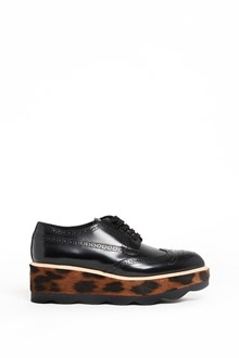 PRADA wave platform animalier printed  calf leather sneakers
