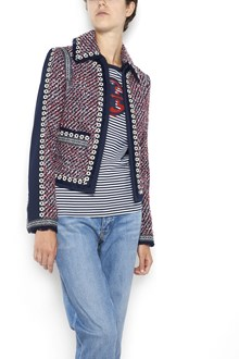 TORY BURCH 'Elisa' tweed short jacket with detachable collar