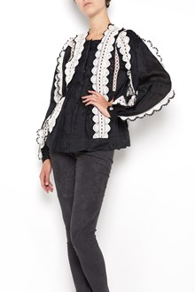 ISABEL MARANT 'Nell' wide lace embroidered shirt