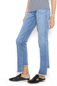 TORY BURCH 'Serena' straight denim with  destroyed hem
