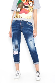 DSQUARED2 5 pockets damaged  denim trousers with patches