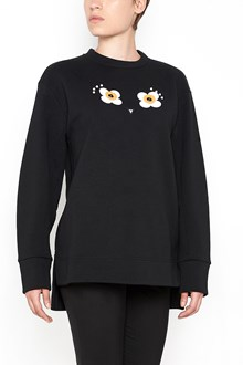 FENDI Long sleeved 'Flowers' sweatshirt with applications on chest