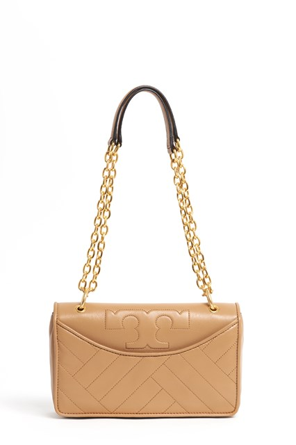 TORY BURCH Leather 'Alexa' shoulder bag with gold chain