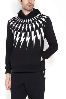 NEIL BARRETT Cotton fabric 'Multi Flash' hoddie