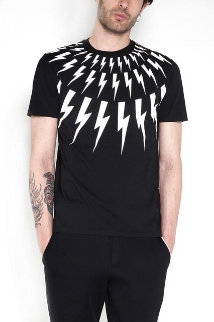 NEIL BARRETT Cotton 'Multi Flash' regular t-shirt