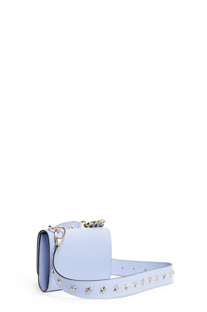 REDVALENTINO Leather shoulder bag with stars studded strap