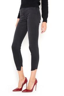FRAME DENIM ' Le skinny de Jeanne' black   denim trousers  with cascade hem