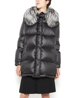 PRADA LINEA ROSSA hooded padded jacket with fur on hood