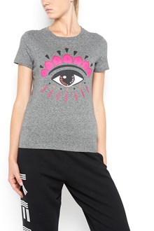 KENZO cotton 1/2 sleeves t-shirt with frontal 'eyes' print
