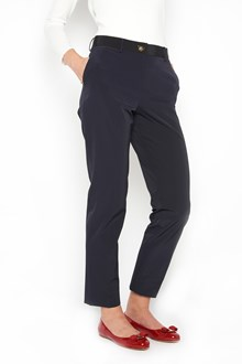 SALVATORE FERRAGAMO straight gabardine trousers