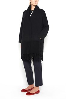 SALVATORE FERRAGAMO Cashmere long cardigan with fringes and pockets