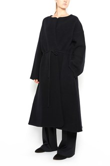 THE ROW 'Mani' wool oversize coat with waist band