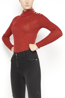 BALMAIN turtle neck long sleeves jumper with buttons on shoulder