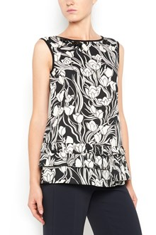 MAX MARA all over flower printed sleeveless top