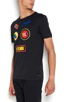 FENDI Cotton t-shirt with 'Face Fendi' patches
