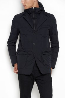 HERNO 'Laminar' linea hooded zipped down jacket