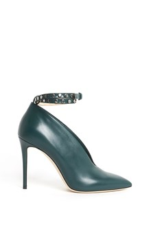 JIMMY CHOO 'Lark' leather shoes with studded ankle belt